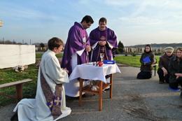 Молитву за померлих в Кременчуці