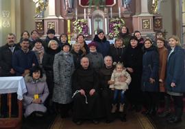 Представники Францисканського Ордену Світських з парафії св. Антонія на дні народження нової спільноти